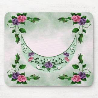 Green Goddess Upright Crescent Mouse Pad