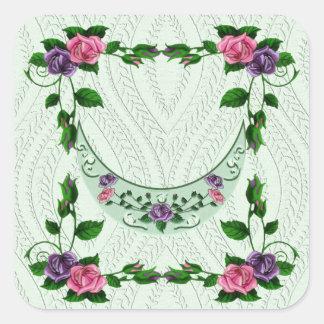 Green Goddess Upright Crescent Square Stickers