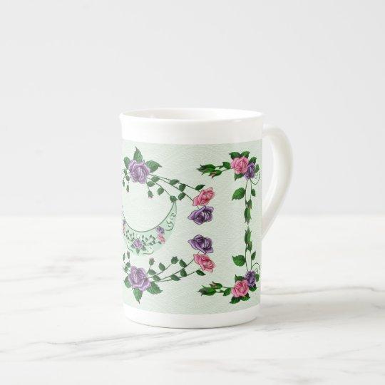 Green Goddess Upright Crescent Tea Cup