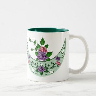 Green Goddess Upright Crescent Two-Tone Coffee Mug