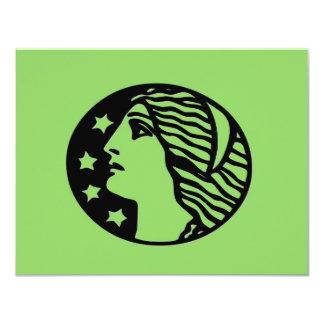 Green Godess 4.25x5.5 Paper Invitation Card