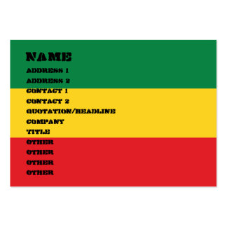 Green, Gold and Red Flag Large Business Cards (Pack Of 100)