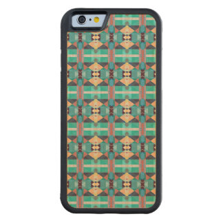 Green Gold And Red Pattern Carved® Maple iPhone 6 Bumper Case