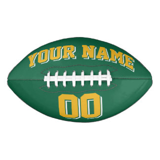 GREEN GOLD AND WHITE Custom Football
