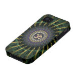 Green Gold Aum Swirl New Age iPhone 4 Case-Mate