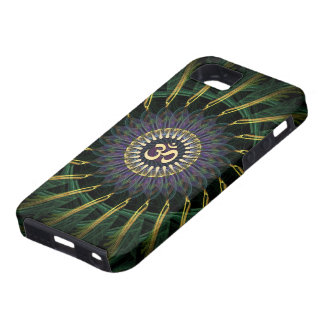 Green Gold Aum Swirl New Age iPhone 5 Case-Mate iPhone SE/5/5s Case