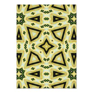 Green & Gold Aztec Plumeria Card
