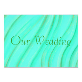 Green & Gold Blends Wedding Invitations