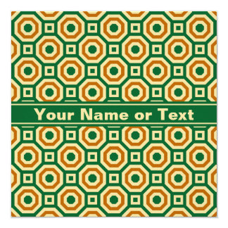 Green/Gold/Brown Nested Octagons Invitation