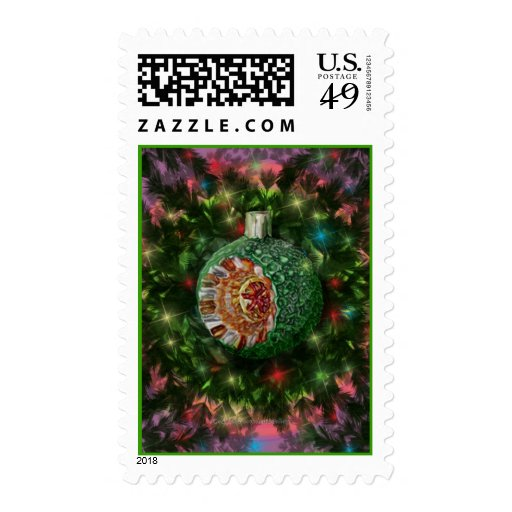 Green Gold Bulb Stamp