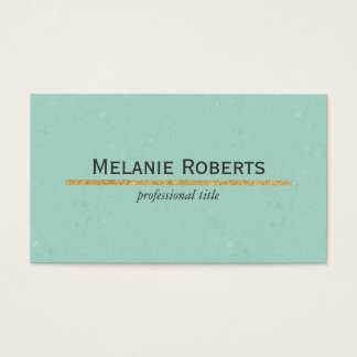 Green / Gold Business Card