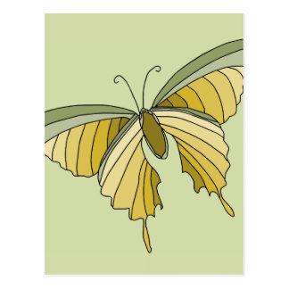 Green Gold Butterfly Designer Gifts Postcard