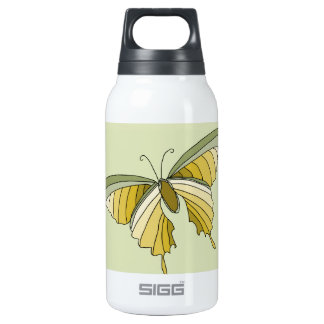 Green Gold Butterfly Designer Thermos Water Bottle