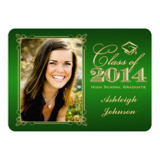 Green, Gold Class of 2014 Photo Grad Invite 2