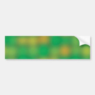 Green & gold color blur bumper sticker