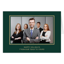 Green Gold Corporate Business Photo holiday Card