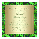 Green Gold Corporate Christmas Party Personalized Invitation