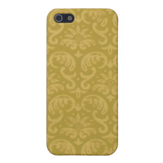 Green Gold Damask iPhone 5 Case