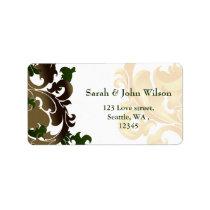green gold elegance return address label