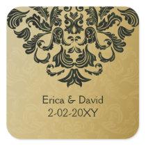 green gold envelope seal