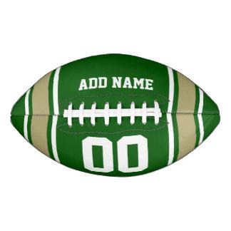 Green Gold Football Jersey Stripes