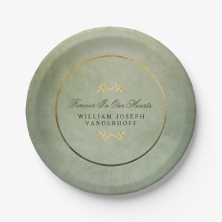 Green & Gold Forever In our Hearts Memorial Plates