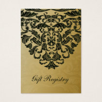 green gold Gift registry  Cards