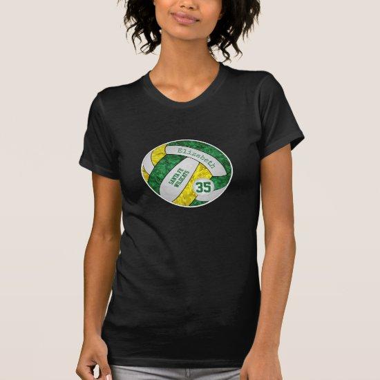 green gold girl's volleyball team spirit T-Shirt