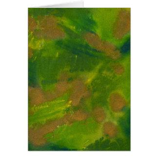 green-gold - grün-gold card