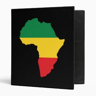 Green, Gold & Red Africa Flag Binder