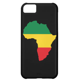 Green, Gold & Red Africa Flag Case For iPhone 5C