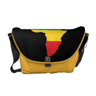 Green, Gold & Red Africa Flag Courier Bag