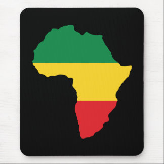 Green, Gold & Red Africa Flag Mouse Pad