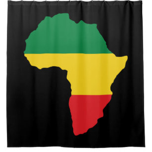 Green, Gold U0026 Red Africa Flag Shower Curtain