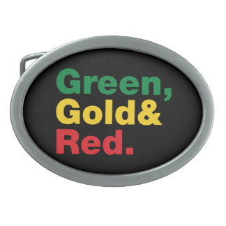 Green, Gold & Red. Belt Buckles