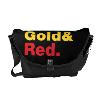 Green, Gold & Red. Courier Bag