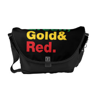 Green, Gold & Red. Messenger Bag