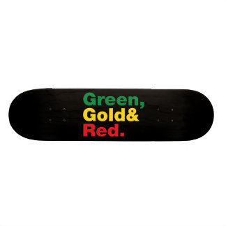 Green, Gold & Red. Skateboard