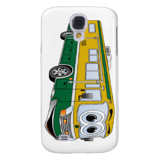 Green Gold RV Bus Camper Cartoon Samsung Galaxy S4 Cover