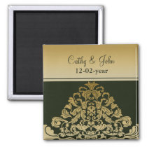 green gold Save the date magnet
