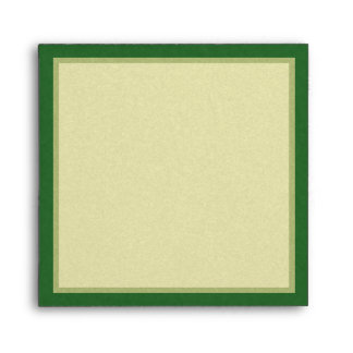 Green & Gold Shamrock Envelope