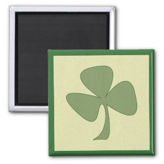 Green & Gold Shamrock Magnet