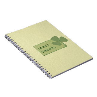 Green & Gold Shamrock Note Books