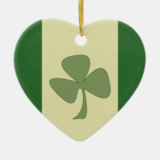 Green & Gold Shamrock Ornament