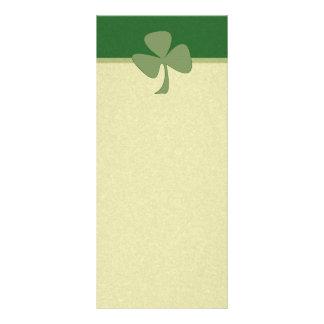 Green & Gold Shamrock Rack Card