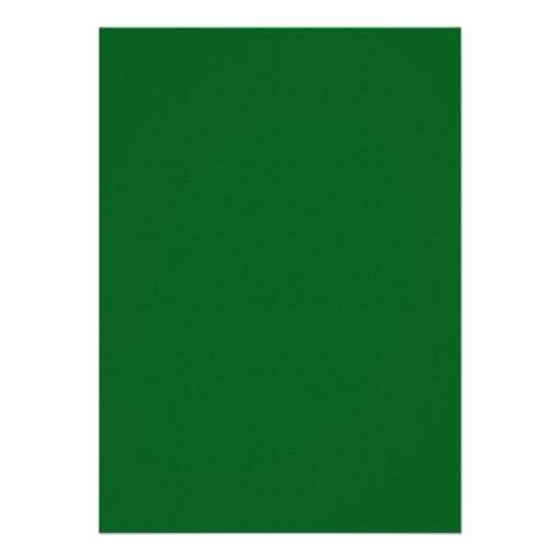 Green Gold Swirl Damask Graduation Announcement (back side)