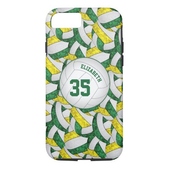 green gold team spirit gifts girls' volleyball iPhone 8/7 case
