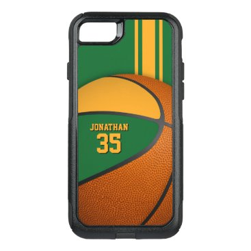 green gold varsity basketball team colors boys OtterBox commuter iPhone 8/7 case