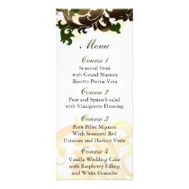 green gold Wedding menu