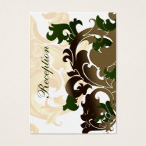 green gold wedding Reception Cards